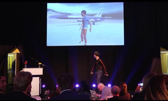 Special dance act met live 3D animatie motion capturing