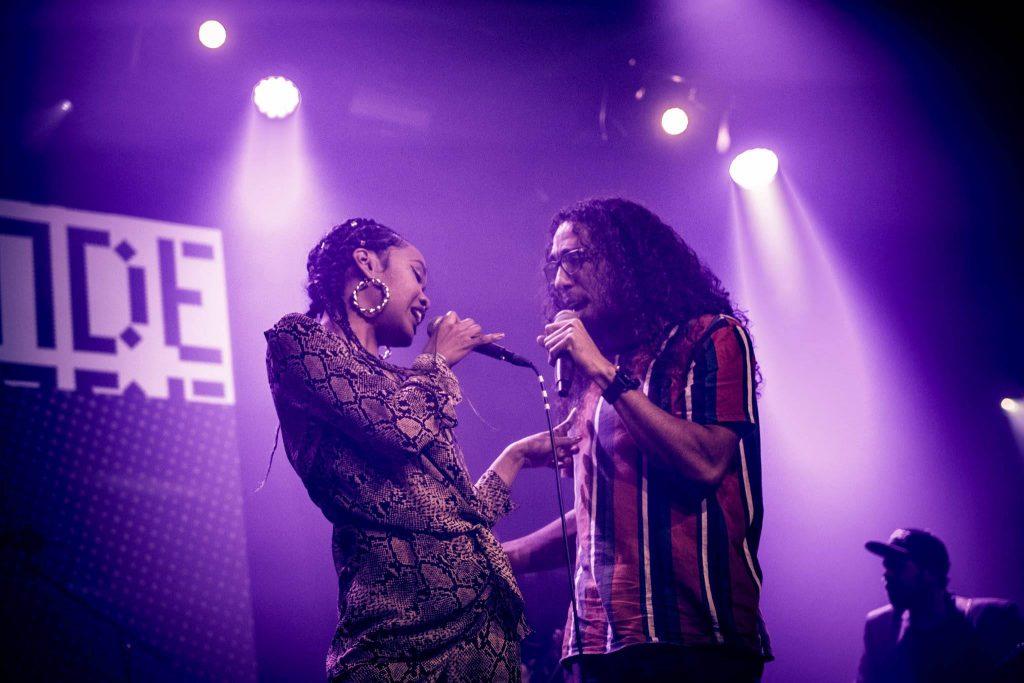 A Mili & Mr. Weazely duet during show in Melkweg Amsterdam
