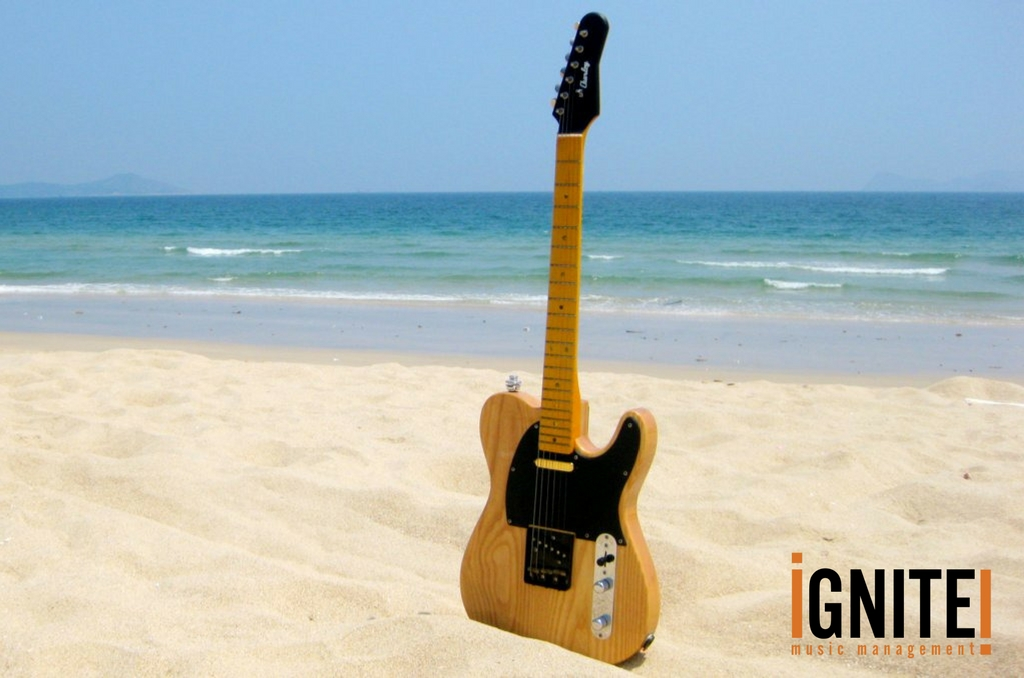 iGNITE Music - happy holiday guitar beach